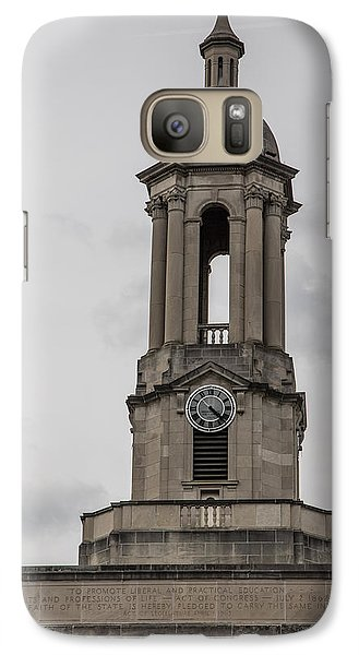 Old Main From Front Clock Galaxy Case by John McGraw
