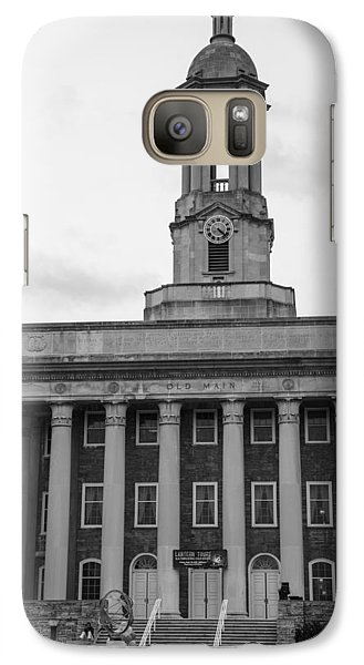 Old Main Penn State Black And White Galaxy Case by John McGraw