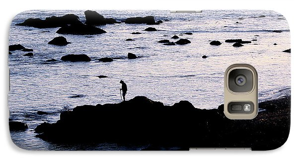 Galaxy Case featuring the photograph Old Man And The Sea by Jan Cipolla