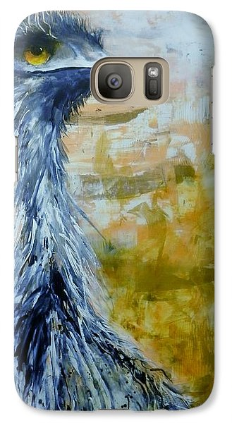 Galaxy Case featuring the painting Old Man Emu by Lyn Olsen