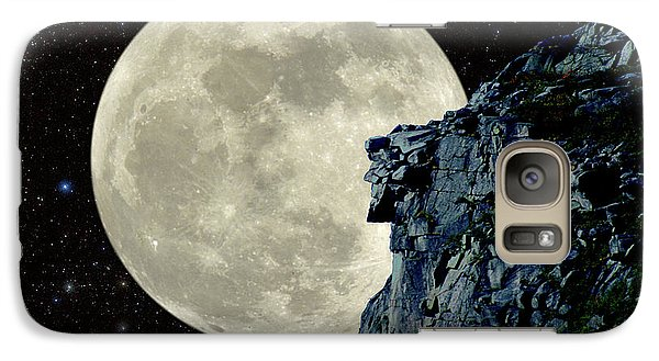 Galaxy Case featuring the photograph Old Man / Man In The Moon by Larry Landolfi