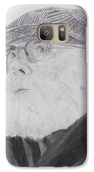 Galaxy Case featuring the drawing Old Man With Beard by Quwatha Valentine