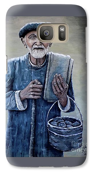 Galaxy Case featuring the painting Old Man With His Stones by Judy Kirouac