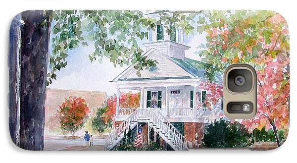 Galaxy Case featuring the painting Old Market Hall Cheraw by Gloria Turner