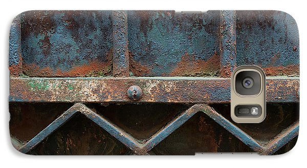 Galaxy Case featuring the photograph Old Metal Gate Detail by Elena Elisseeva