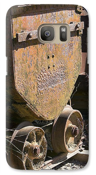 Galaxy Case featuring the photograph Old Mining Car by Phyllis Denton