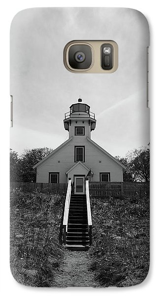 Galaxy Case featuring the photograph Old Mission Point Lighthouse by Joann Copeland-Paul