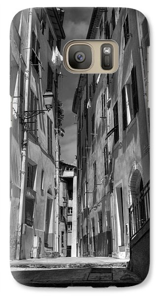 Galaxy Case featuring the photograph Old Nice - Vieille Ville 001 Bw by Lance Vaughn