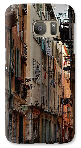 Galaxy Case featuring the photograph Old Nice - Vieille Ville 005 by Lance Vaughn