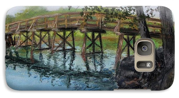 Galaxy Case featuring the painting Old North Bridge In Pastel by Jack Skinner