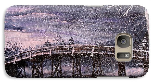 Galaxy Case featuring the painting Old North Bridge In Winter by Jack Skinner