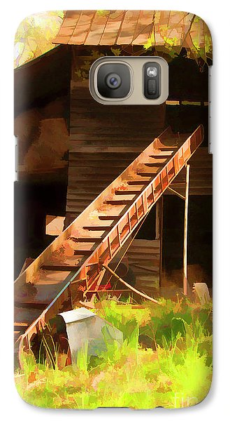 Galaxy Case featuring the photograph Old North Carolina Barn And Rusty Equipment   by Wilma Birdwell