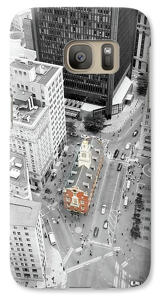 Galaxy Case featuring the photograph Old State House by Greg Fortier
