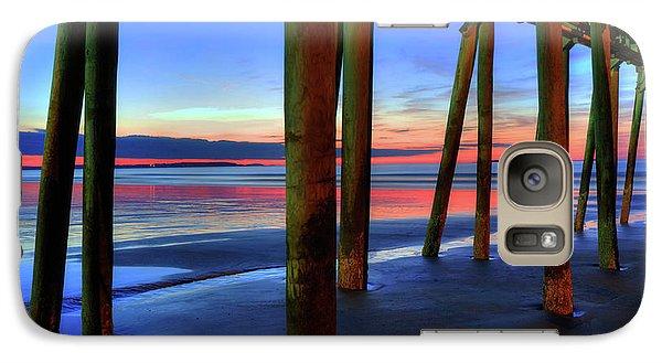 Galaxy Case featuring the photograph Old Orchard Beach Pier -maine Coastal Art by Joann Vitali
