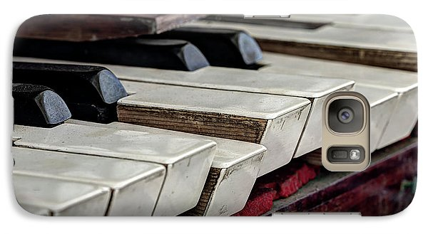 Galaxy Case featuring the photograph Old Organ Keys by Michal Boubin
