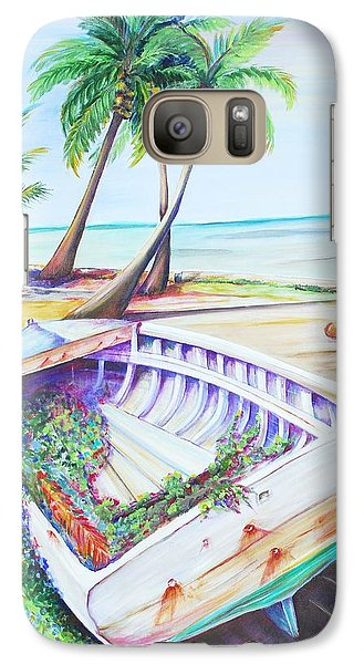 Galaxy Case featuring the painting Old Paint by Patricia Piffath