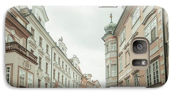 Galaxy Case featuring the photograph Old Prague Buildings. Staromestska Square by Jenny Rainbow