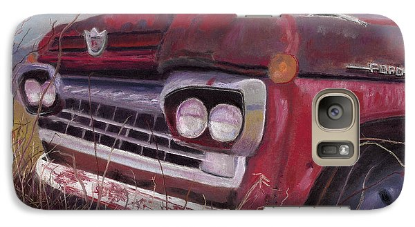 Galaxy Case featuring the painting Old Red by Arlene Crafton