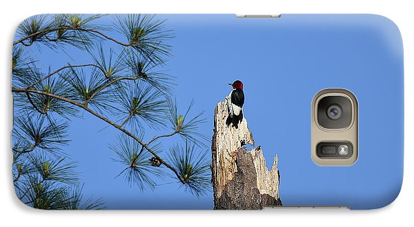 Galaxy Case featuring the photograph Old Red by Skip Willits