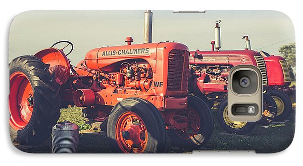 Old Red Vintage Tractors Prince Edward Island  Galaxy S7 Case by Edward Fielding