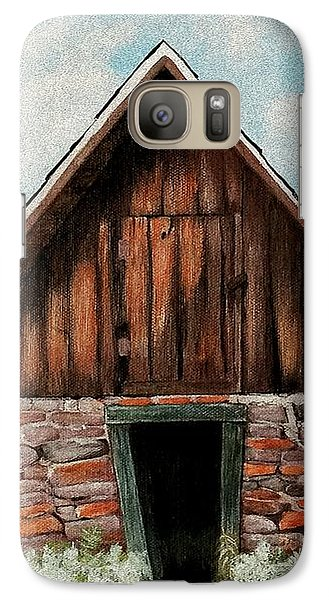 Galaxy S7 Case featuring the painting Old Root House by Anastasiya Malakhova