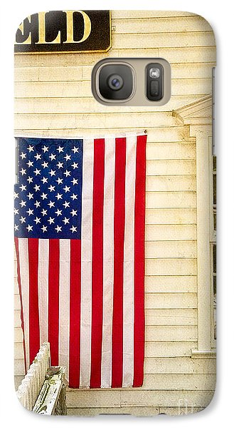 Galaxy Case featuring the photograph Old Rugged Field Flag by Craig J Satterlee