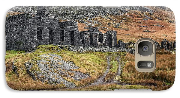 Galaxy Case featuring the photograph Old Ruin At Cwmorthin by Adrian Evans