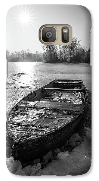 Galaxy Case featuring the photograph Old Rusty Boat by Davorin Mance