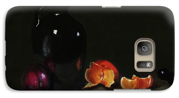 Galaxy Case featuring the painting Old Sake Jug And Fruit by Barry Williamson