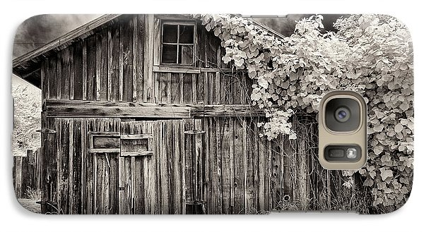 Galaxy Case featuring the photograph Old Shed In Sepia by Greg Nyquist