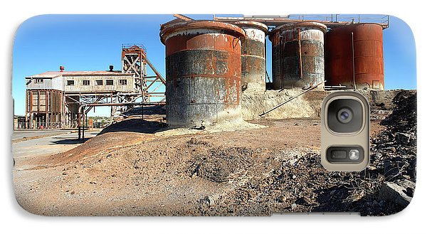 Galaxy Case featuring the photograph Old Silver Mine Broken Hill by Bill Robinson