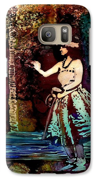 Galaxy Case featuring the painting Old Time Hula Dancer by Marionette Taboniar