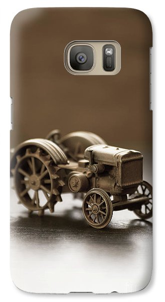 Galaxy Case featuring the photograph Old Toy Tractor by Edward Fielding