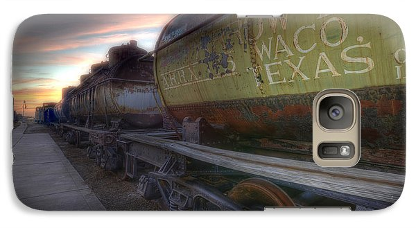 Galaxy Case featuring the tapestry - textile Old Train - Galveston, Tx 2 by Kathy Adams Clark