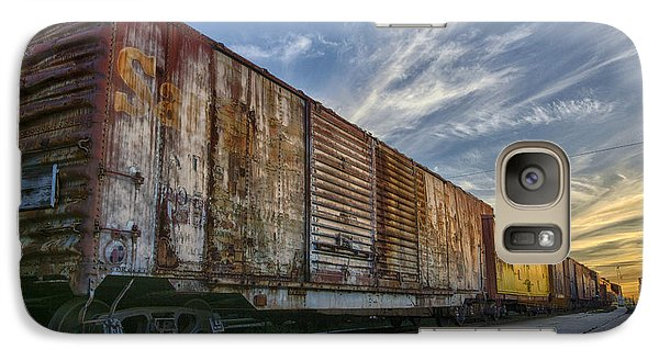 Galaxy Case featuring the tapestry - textile Old Train - Galveston, Tx by Kathy Adams Clark