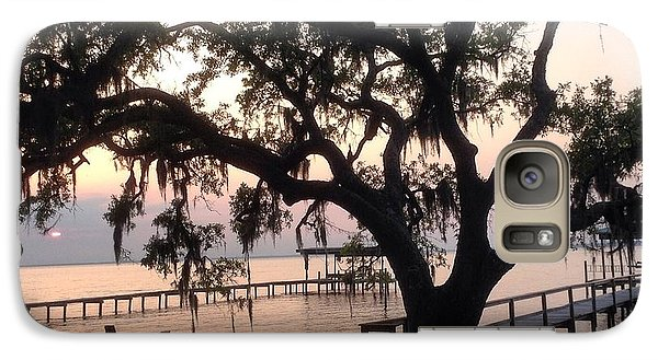 Galaxy Case featuring the photograph Old Tree At The Dock by Christin Brodie