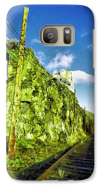 Galaxy Case featuring the photograph Old Trolly Tracks by Jeff Swan