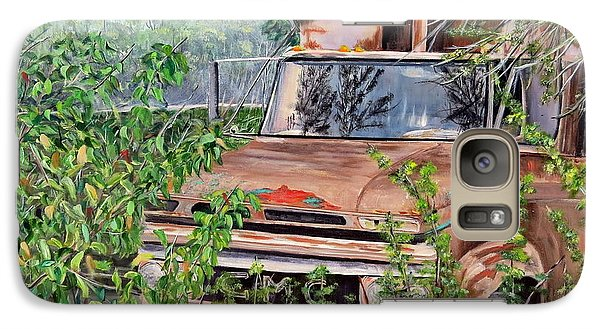 Galaxy Case featuring the painting Old Truck Rusting by Marilyn  McNish
