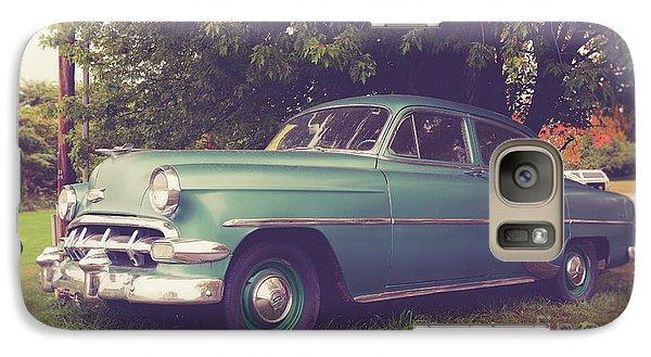 Old Vintage American Car Galaxy S7 Case by Edward Fielding