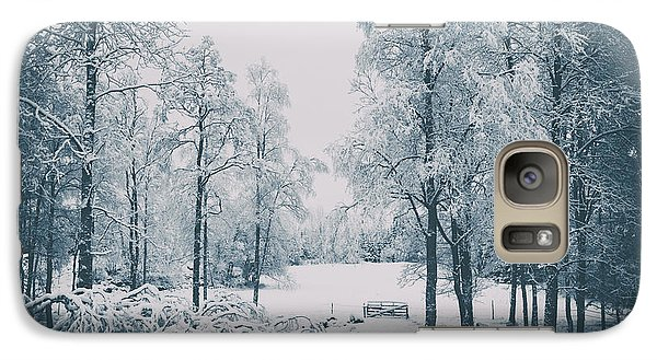 Galaxy Case featuring the photograph Old Vintage Winter Landscape by Christian Lagereek