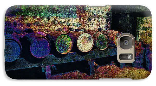 Galaxy Case featuring the digital art Old Wine Barrels by Glenn McCarthy Art and Photography