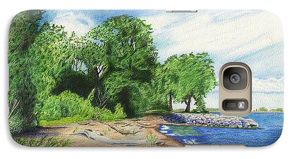 Galaxy Case featuring the drawing Old Woman Creek - Huron Ohio by Shawna Rowe