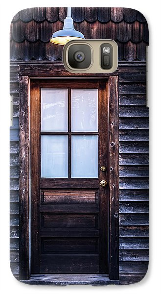 Galaxy Case featuring the photograph Old Wood Door And Light by Terry DeLuco