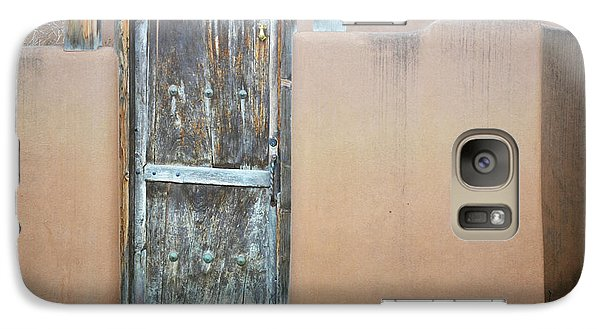 Galaxy Case featuring the photograph Old Wooden Door Adobe by Andrea Hazel Ihlefeld