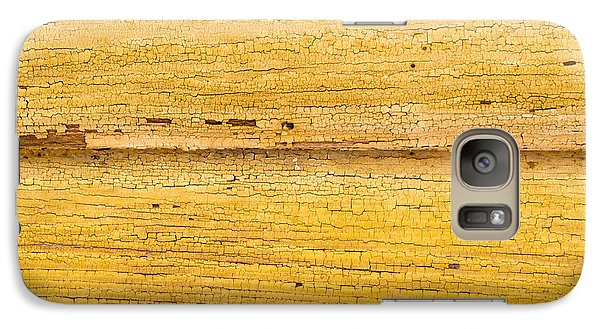 Galaxy Case featuring the photograph Old Yellow Paint On Wood by John Williams