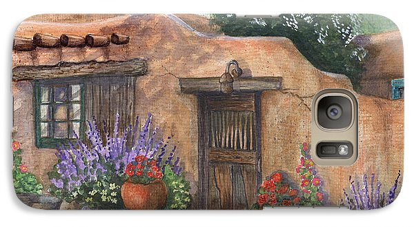 Galaxy Case featuring the painting Old Adobe Cottage by Marilyn Smith