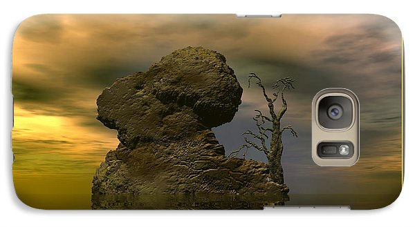 Galaxy Case featuring the digital art Olim - Quondam - Surrealism by Sipo Liimatainen