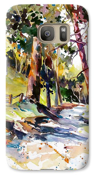 Galaxy Case featuring the painting Olinda Trees Maui 2 by Rae Andrews