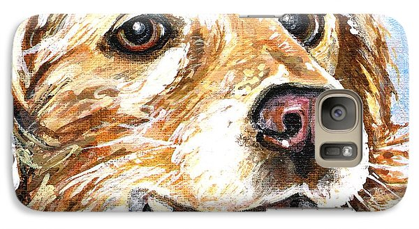 Galaxy Case featuring the painting Oliver From Muttville by Mary-Lee Sanders