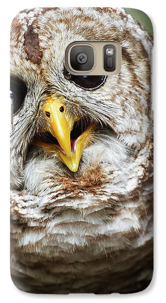 Galaxy Case featuring the photograph Oliver Owl by Arthur Dodd